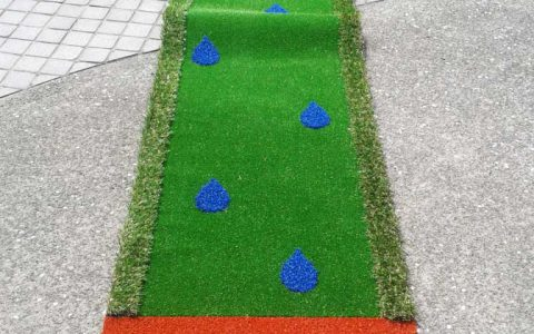 portable mini golf rain drops